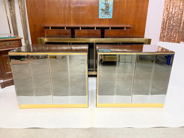 Pair of Ello Mirrored Double Door Chests For Sale 12