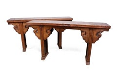 Pair of Elm Alter Tables from Northern China C1820