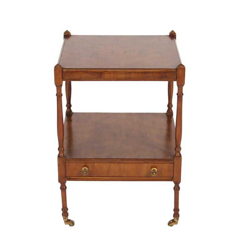 English Pair of Elm Bedside Tables