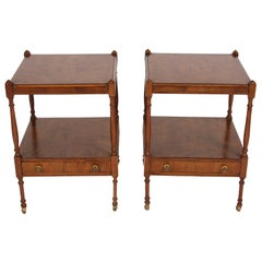 Pair of Elm Bedside Tables
