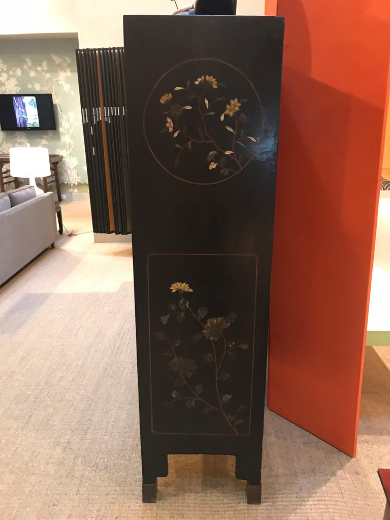 Pair of Embellished Chinese Lacquer Cabinets For Sale 9