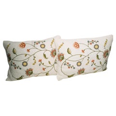 Pair of Embroidered Pillows