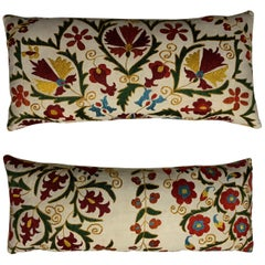 Pair of Embroidery Suzani Pillows