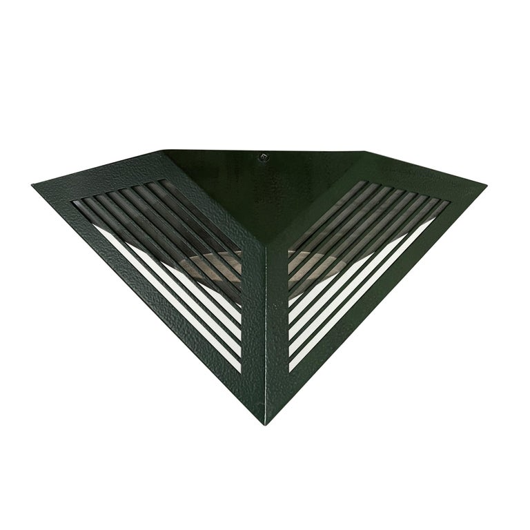 Pair of Emerald Green Wall Lanterns with Reflectors For Sale 2