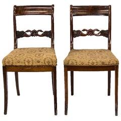 Pair of Empire American Mahogany Chairs