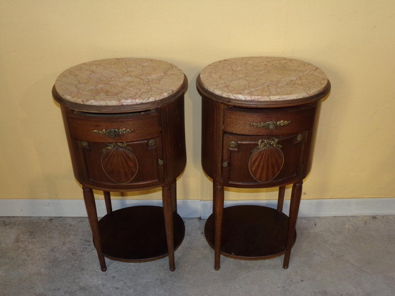 French Pair of Empire Bedside Cabinets For Sale