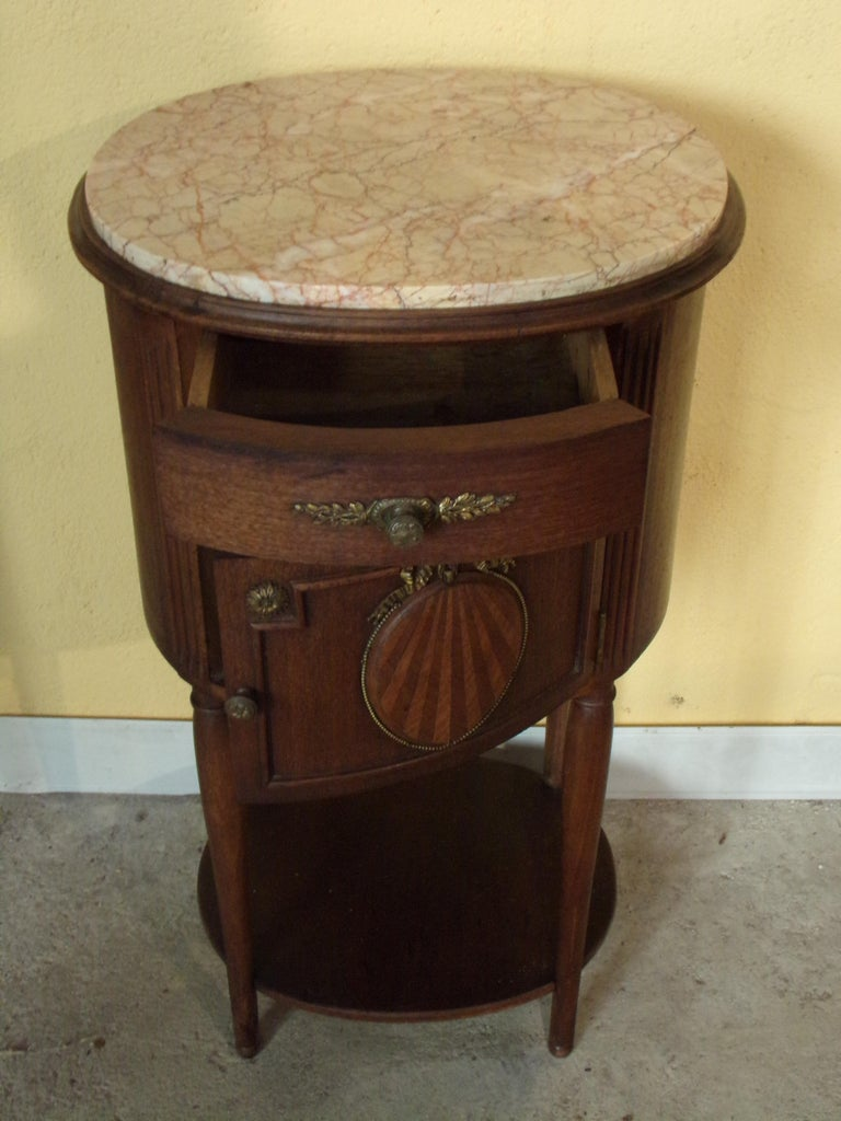 Pair of Empire Bedside Cabinets In Good Condition For Sale In London, GB