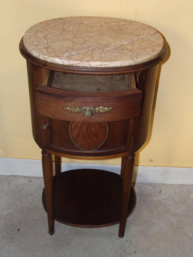 Early 20th Century Pair of Empire Bedside Cabinets For Sale