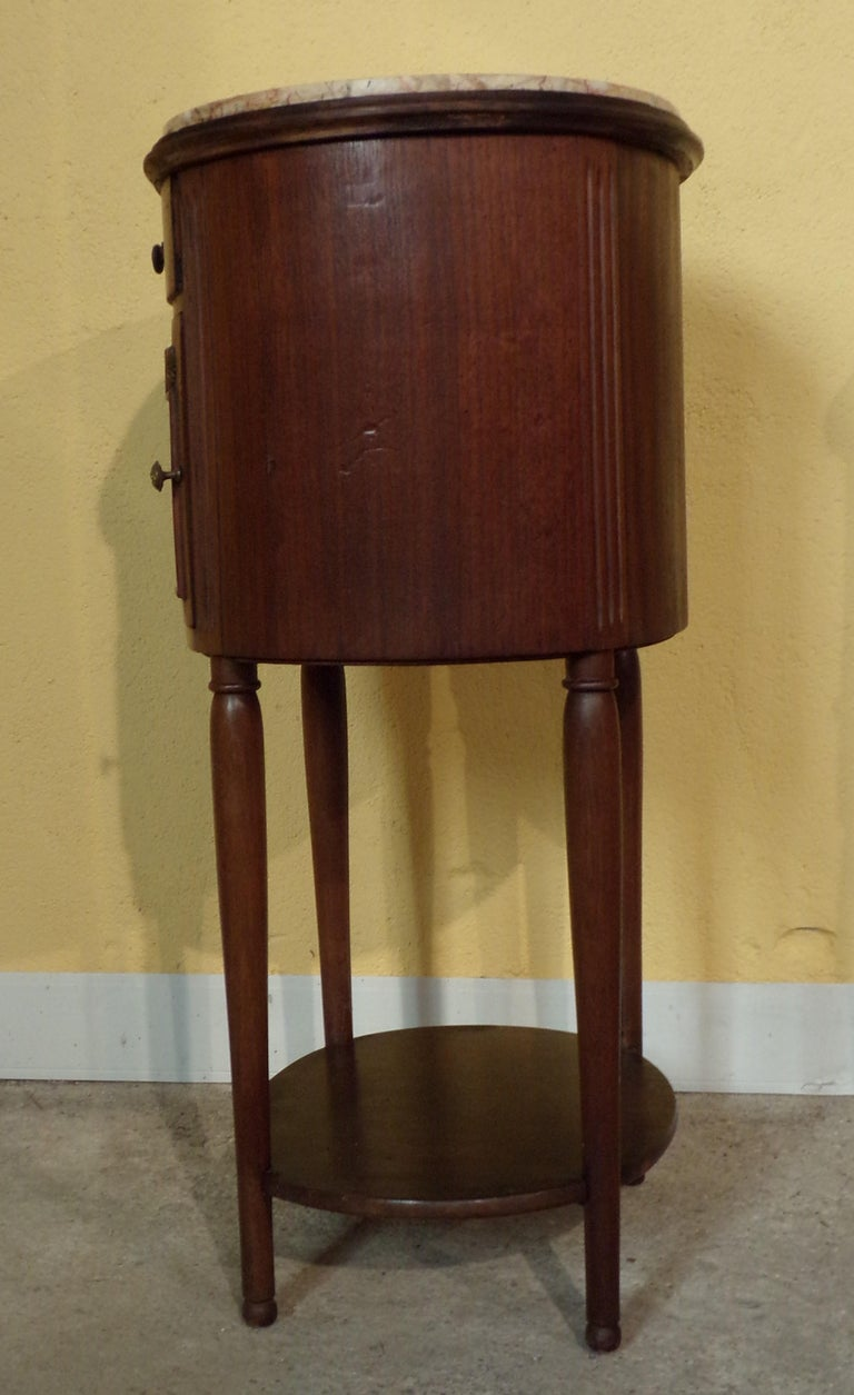 Mahogany Pair of Empire Bedside Cabinets For Sale