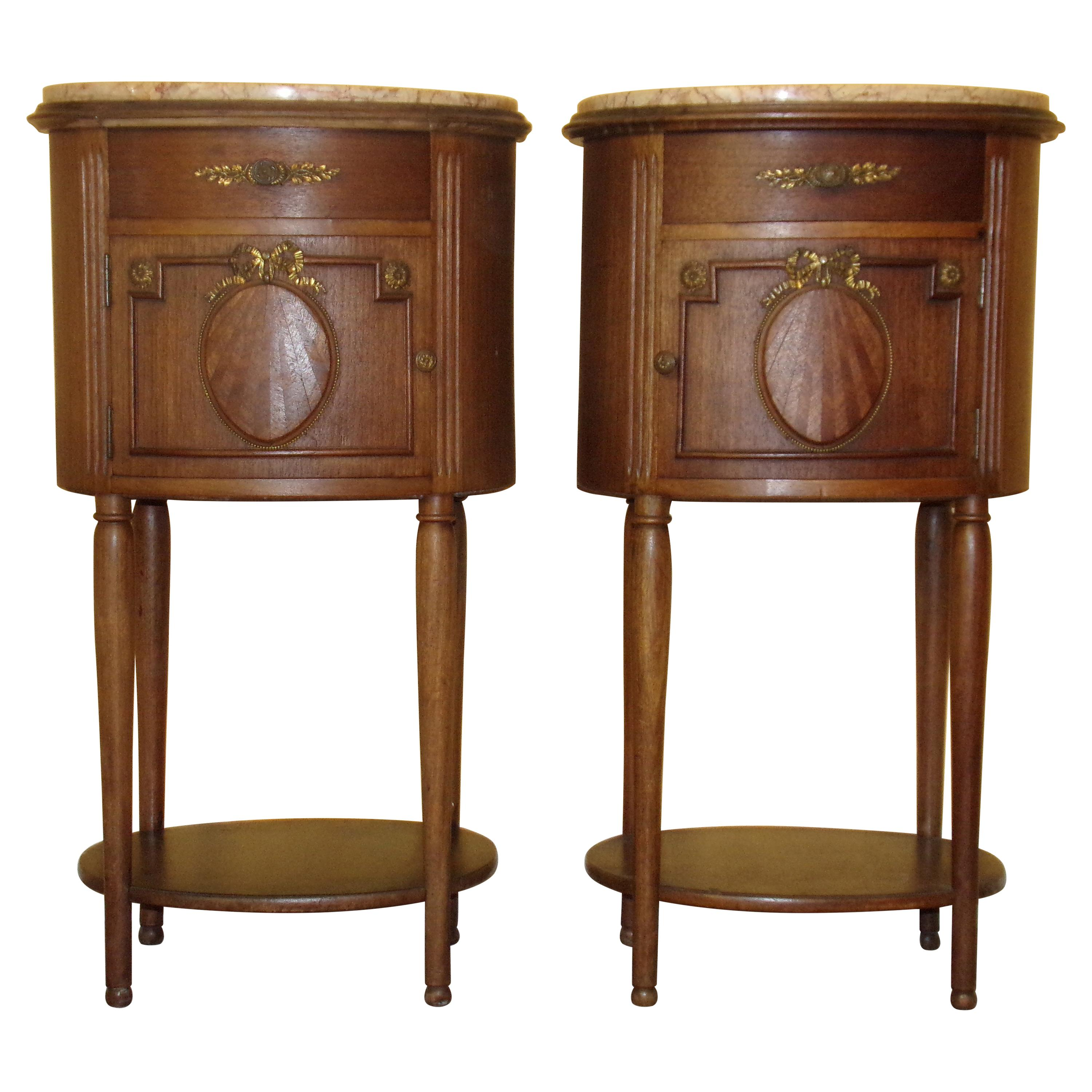 Pair of Empire Bedside Cabinets