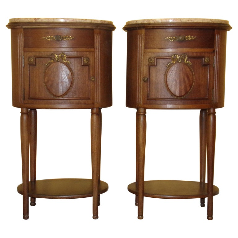 Pair of Empire Bedside Cabinets For Sale
