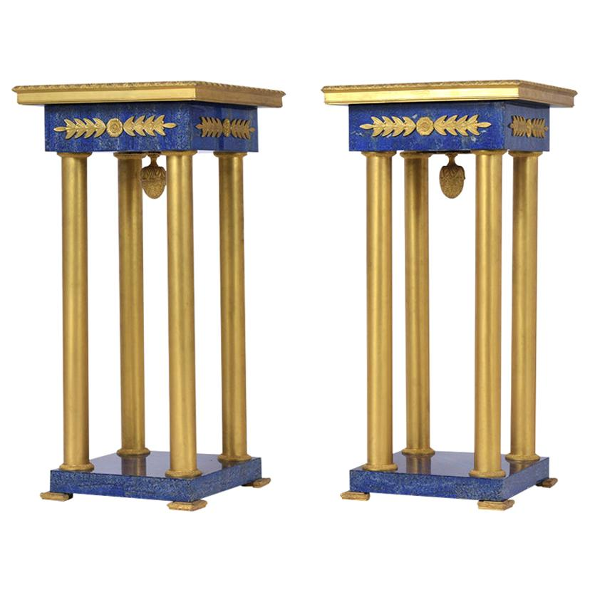 Pair of Bronze Empire Pedestals