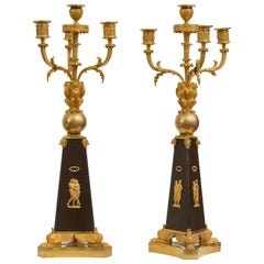Pair of Empire Candelabra Attributed to Claude Galle