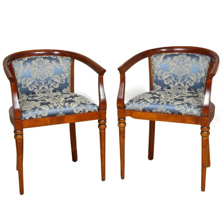 Accent Chairs Sold In Pairs.Pair Of Empire Cherry Accent Chairs Circa 1810