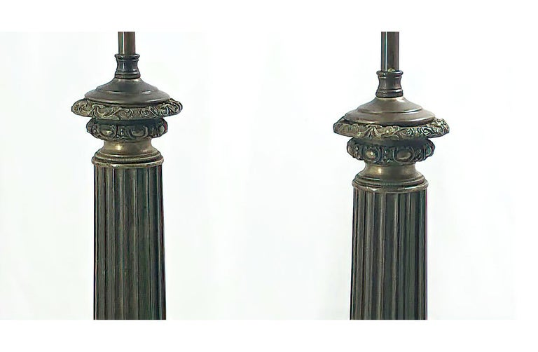 Pair of Empire Lamps - Labeled Nancy In Good Condition For Sale In New York, NY