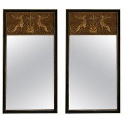 Pair of Empire Neoclassical Mirrors