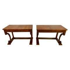 Pair of Empire Period Rosewood Consoles or Pier Tables