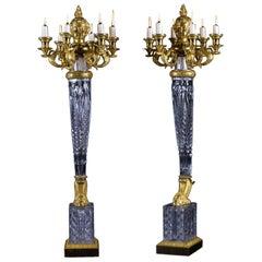 Pair of Empire Six-Light Candelabra Attributed to Escalier De Cristal circa 1819