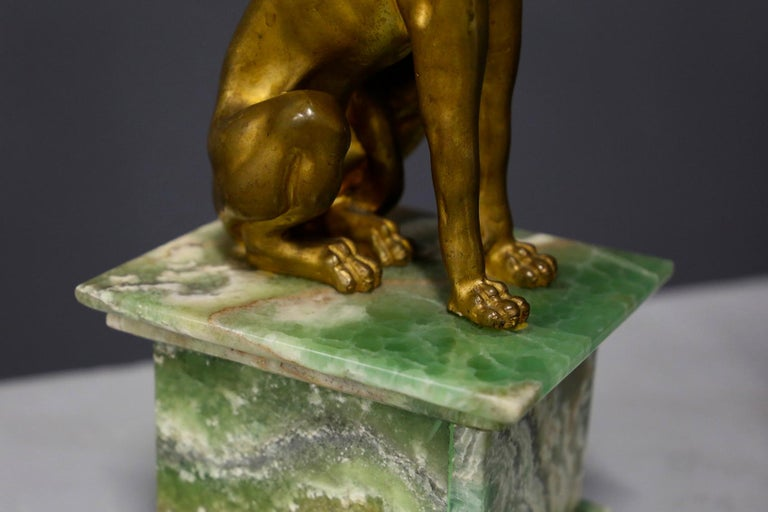 Early 19th Century Pair of Empire Sphinx, Bronze and Alabaster, France 19th Century Napoleon III For Sale