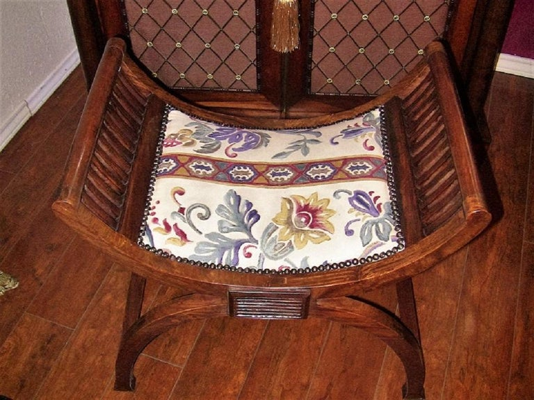 Pair of Empire Style Bedroom Scroll End Bench Seats For Sale 4