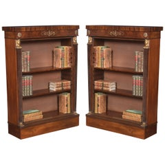 Pair of Empire Style Bookcases