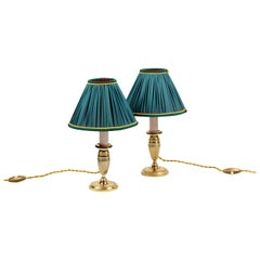 Pair of Empire Style Candlesticks in Gilt Metal, circa 1900