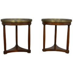 Pair of Empire Style End or Side Tables
