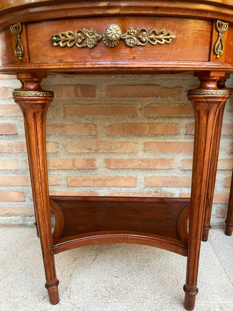 Pair of Empire Style Mahogany Wood Nightstands, 1930s For Sale 10