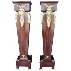Pair of Empire Style Pedestals, 19th Century