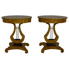 Pair of Empire Style Side Tables / Nightstands