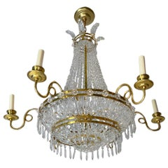 Pair of Empire Style Swedish Chandeliers, Sold Individually