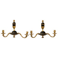 Pair of Empire Style Two-Arm Sconces, circa 1930s
