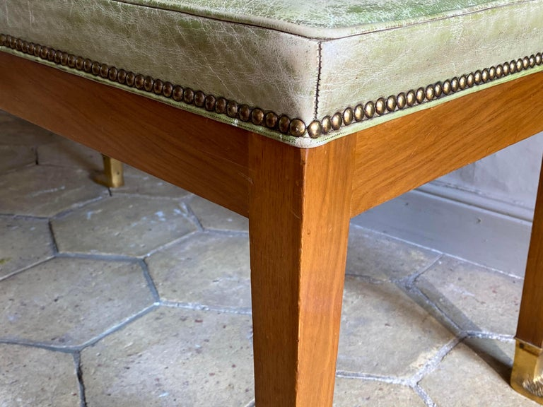 Wood Pair of Empire Style Window Seats For Sale