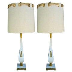 Pair of Enamel table lamps
