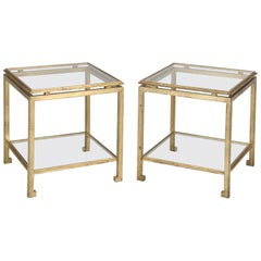 Pair of End or Side Tables Attributed to Guy Lefevre Design, for Maison Jansen