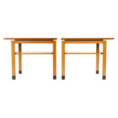1950s Pair of End / Side Tables by Edward Wormley for Dunbar