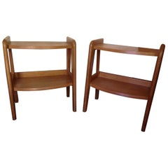Pair of End Table by Guillerme et Chambron