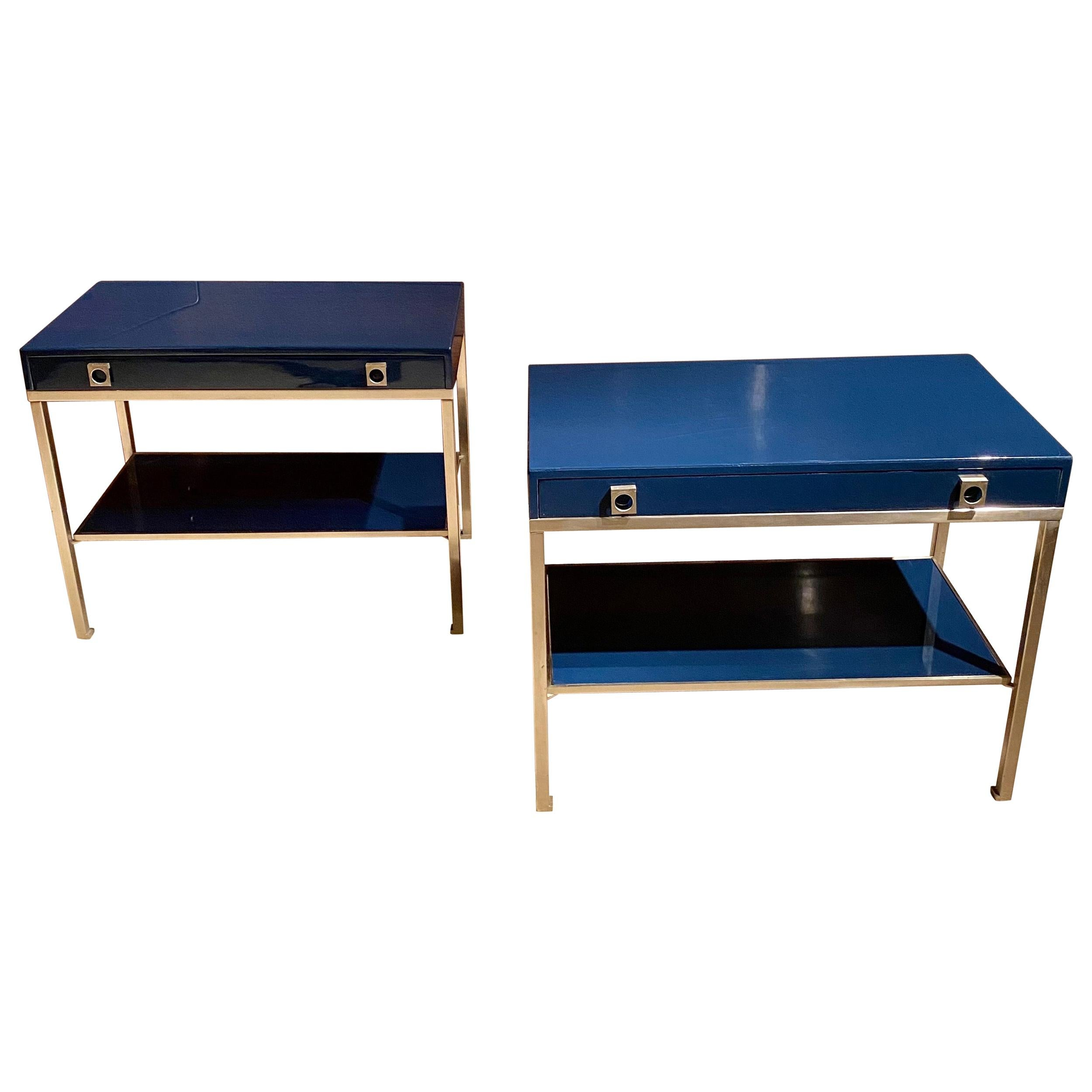 Pair of End Tables by Guy Lefevre for Maison Jansen, France, 1970's