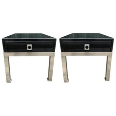 Pair of End Tables by Guy Lefevre for Maison Jansen, France, 1970s