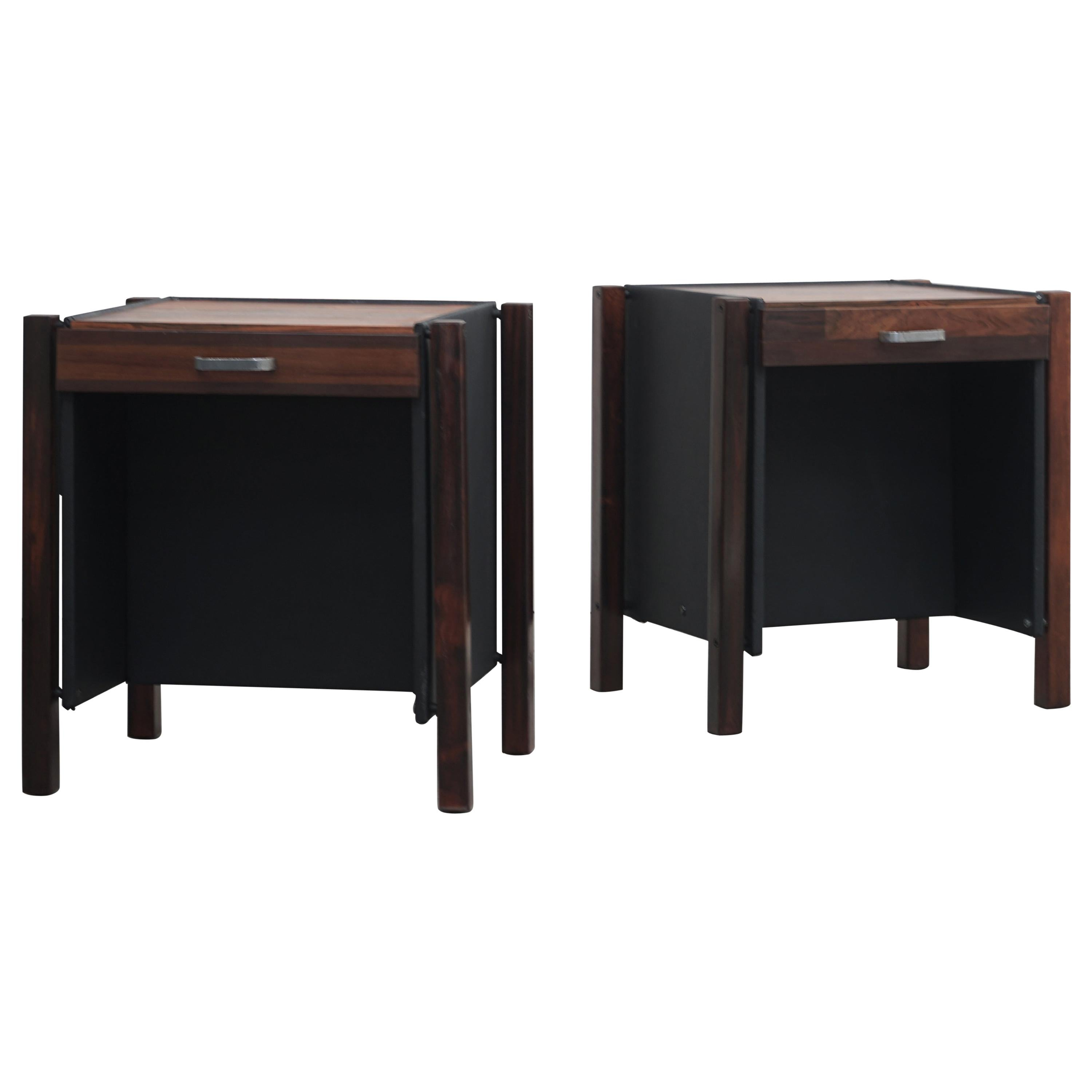 Pair of End Tables by Jorge Zalszupin, Brazilian Midcentury Design, 1960s