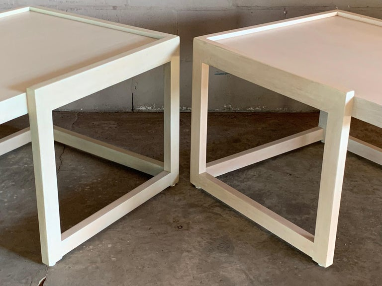 Pair of End Tables by Paul Laszlo for Brown Saltman In Good Condition For Sale In St.Petersburg, FL