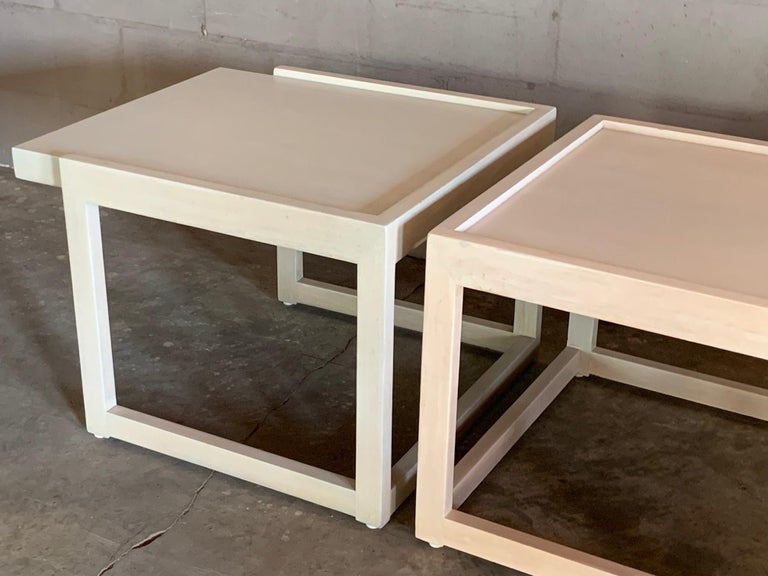 Mid-20th Century Pair of End Tables by Paul Laszlo for Brown Saltman For Sale