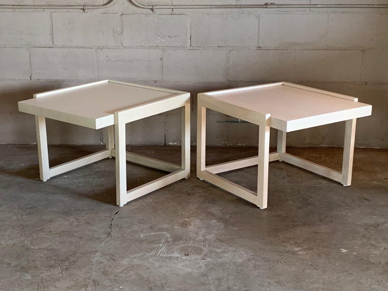 American Pair of End Tables by Paul Laszlo for Brown Saltman For Sale