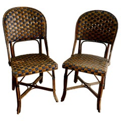Pair of Endell Woven Cane Bentwood Chairs