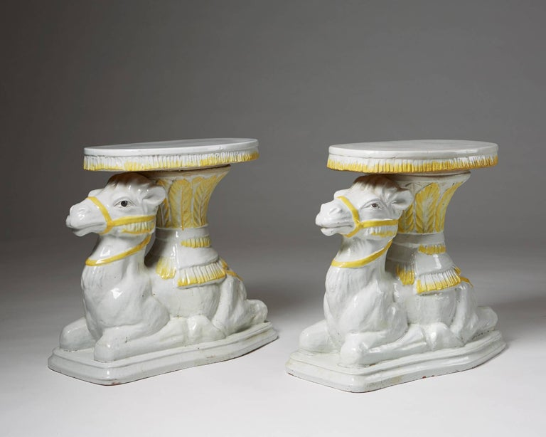 Swedish Pair of Endtables Anonymous Italy, Retailed by Svenskt Tenn, Sweden, 1950s For Sale