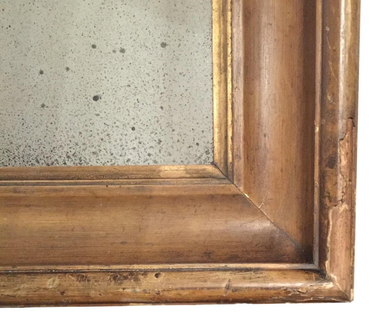 Pair of English 18th Century Time Worn Frames with Later Distressed Glass In Distressed Condition For Sale In Tetbury, GB