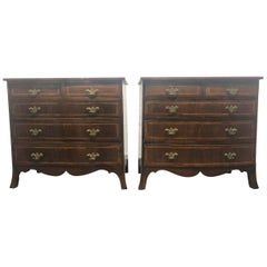Pair of English Antique Mahogany Chests