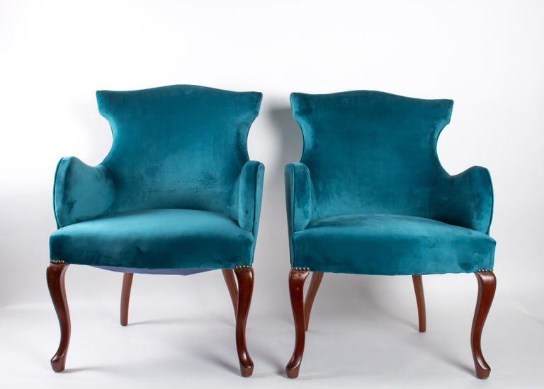 Regency Revival Pair of English Armchairs from the Beginning of the 20th Century For Sale