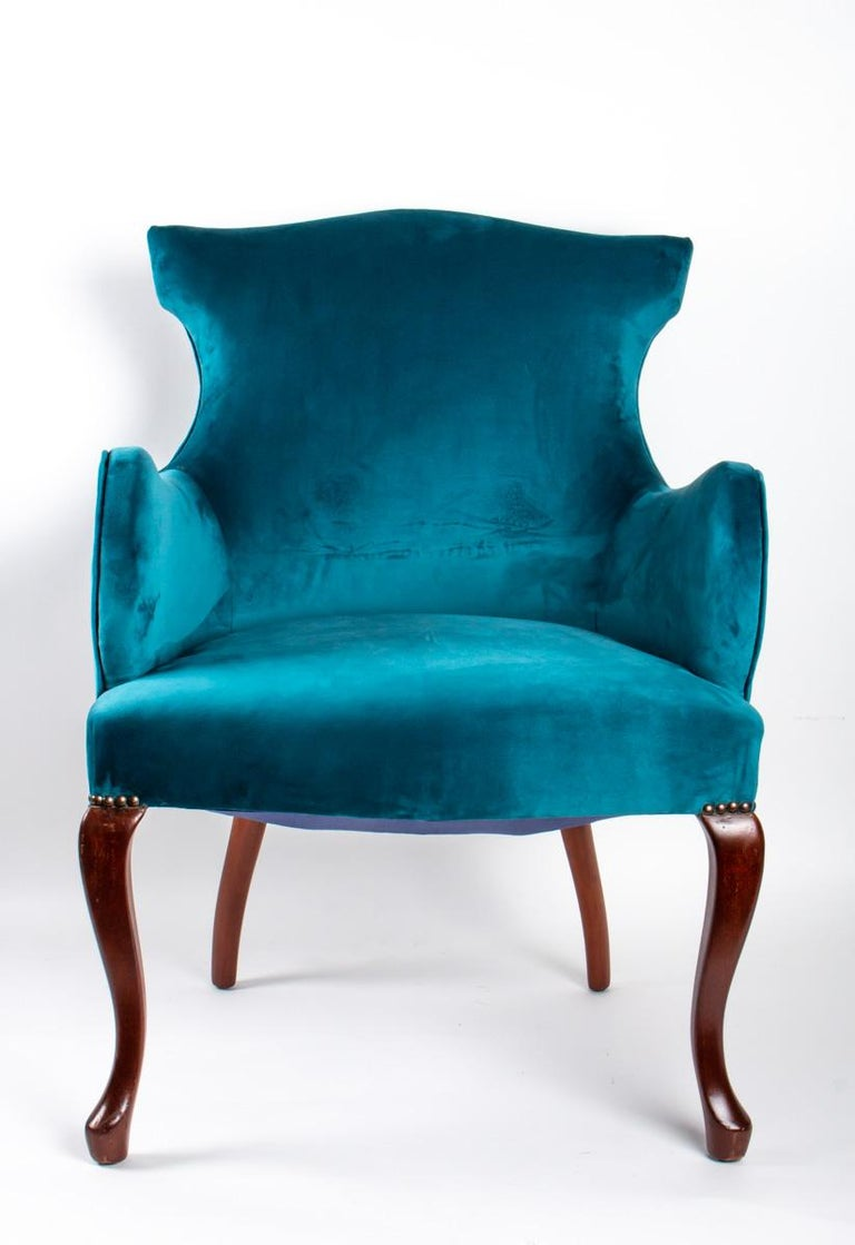 Pair of English Armchairs from the Beginning of the 20th Century In Good Condition For Sale In Saint-Ouen, FR