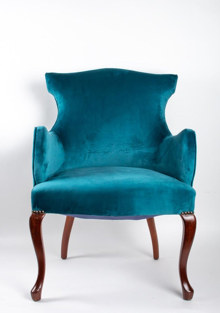 Mahogany Pair of English Armchairs from the Beginning of the 20th Century For Sale